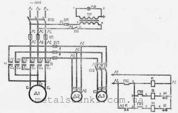 Электрическая схема токарного