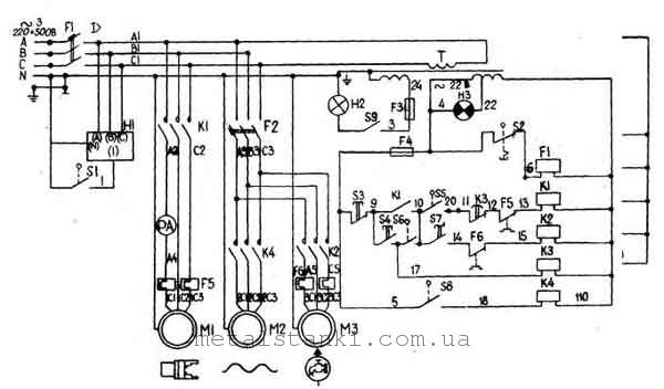 схема токарного станка