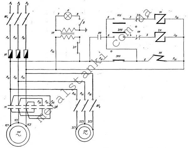 схема токарно-винторезного