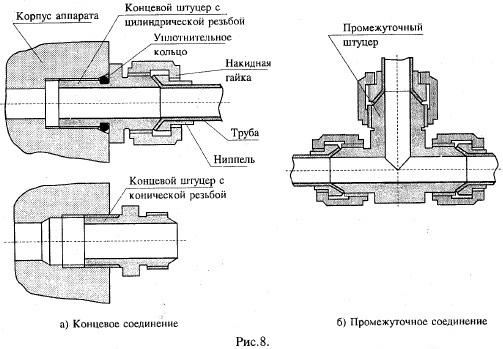 Схемы концевых и промежуточных