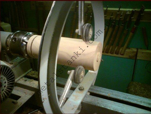 Люнет с колесиками для токарного станка