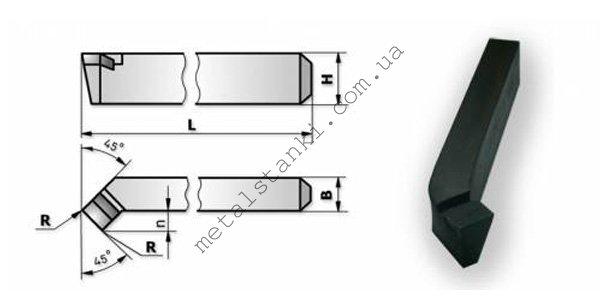 Размеры токарного подрезного резца по металлу
