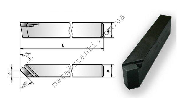 Размеры токарного проходного прямого резца по металлу